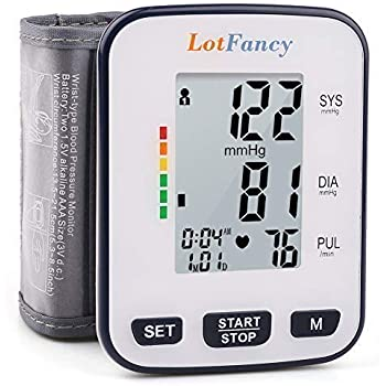 "Wrist Blood Pressure Monitor by LotFancy, 2 User Mode, 5.3"" - 8.5"" Cuff, FDA Approved, Case Included"