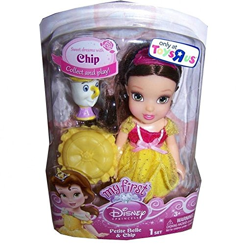 My First Disney Princess Petite Belle Doll and Chip Figure 6 Inches