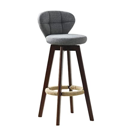 Amazoncom Chairs Wooden Bar Stool Retro Front Desk High Stool With