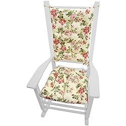 Rocker Cushion Set   Farrell Rose Pink Floral   Extra Large Size   Seat  Cushion