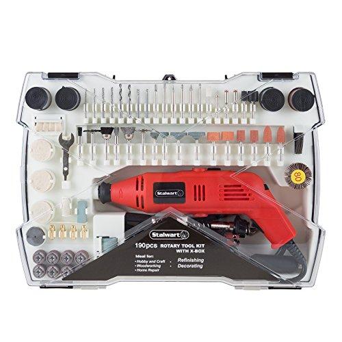 Stalwart 190 Piece Corded Rotary Tool Kit