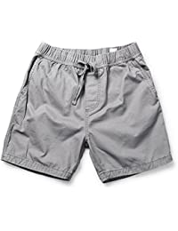 Men's Loose Fit Drawstring Twill Cargo Shorts with 6 and 7 inch Inseam