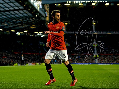Juan Mata Manchester United Autographed 12
