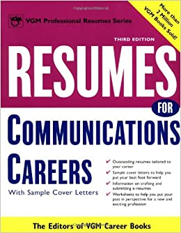 Resumes For Communications Careers Editors Of Vgm Career Books