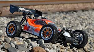 Professional 1/8Th Scale Exceed RC MadFire Nitro Gas Power Radio Control RC Buggy w/ .28 Engine 100% RTR Racing Edition (color sent at random)