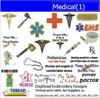 Machine Embroidery Designs - Medical(1) - CD 1 Embroidery Design