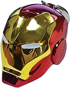 Marvel Comics Schl/üsselanh/änger Metallisch Iron Man Helmet