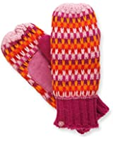 Isotoner Women's Plush Sherpasoft Lined Striped Casual Knit Mittens - Magenta