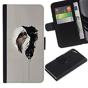 For Apple Iphone 5 / 5S Case , Native Medicine Mysterious Indian - la tarjeta de Crédito Slots PU Funda de cuero Monedero caso cubierta de piel