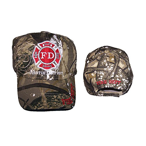 (Fireman Fire Fighter Department Camo Embroidered Baseball Caps Hats ( A7501F11 ))