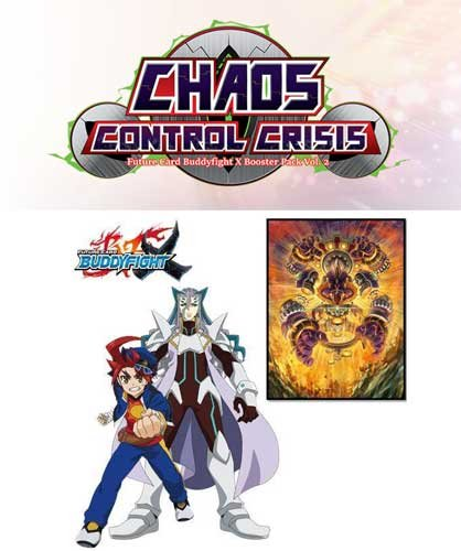 Buddyfight TCG Card Game 'Chaos Control Crisis' Booster Box of 30 packs! BFE-X-BT02 English