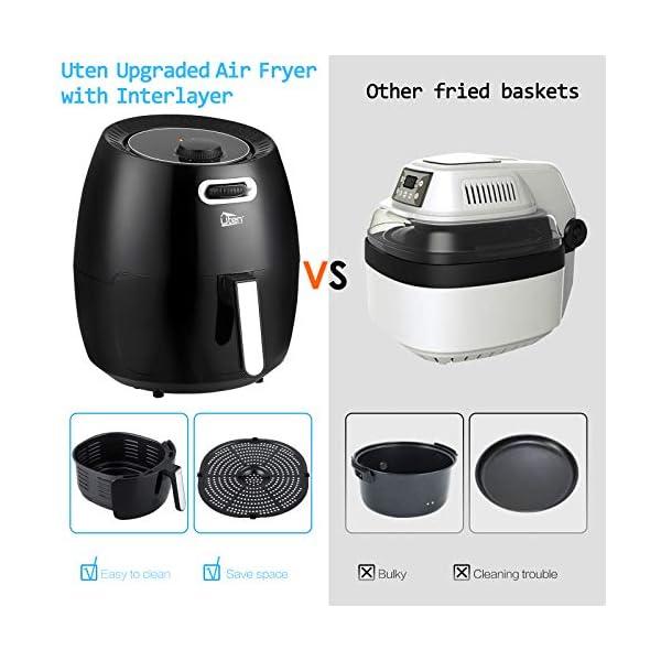 Uten friggitrice ad aria calda, Airfryer per friggere senza grassi 6,5 L, Aerofryer a convezione, friggitrice ad aria… 5