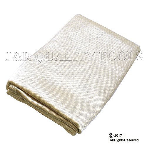 VCT Heavy Duty Fiberglass Welding Blanket and Cover with Brass Grommets Size 4 FT. x 6 FT.