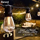 Banord 102FT Dimmable LED Outdoor String Lights, 34