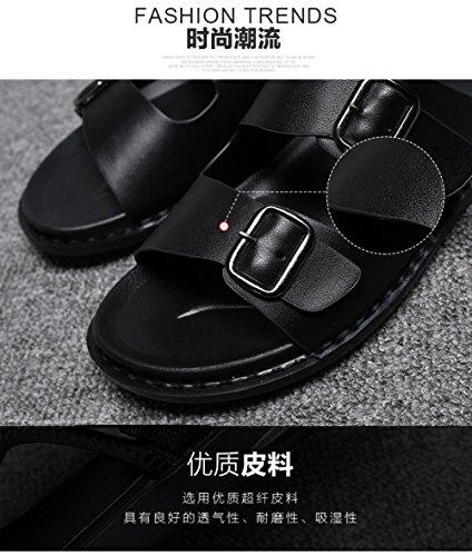 Black Casuales Zapatos Verano Cool Hombres Los Nuevas Yxlong Playa Corea De Zapatillas negro C7ACXq