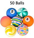 Assorted Bouncy Balls, 50 High Bouncing Super Balls - Bulk Novelty & Gag Toys, Party Favor, Bag Stuffer, Giveaway, Gifts - By Kidsco