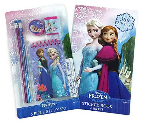 disney-frozen-olaf-ana-elsa-5-piece-study-set-and-frozen-sticker-set-300-stickers