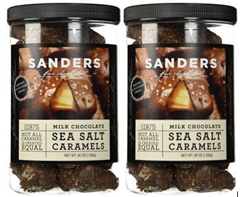 (Sanders Milk Chocolate Sea Salt Caramels - 36oz Container - (SUPER VALUE 2 Pack))