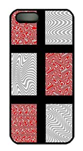 Red and Gray Waves Custom Hardshell Back Case for iphone 4 iphone 4s -1126100