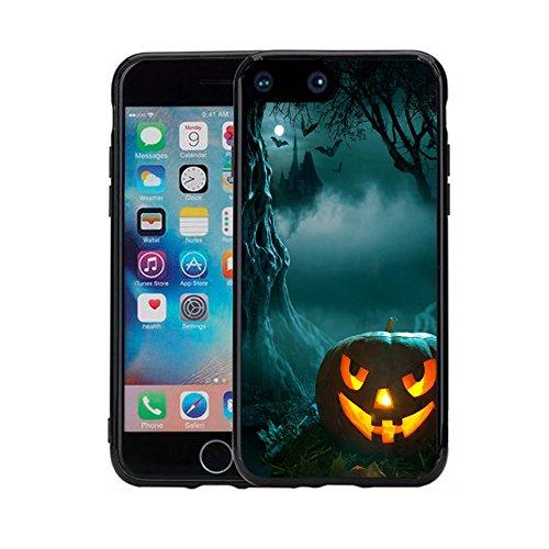Apple 7 Plus Case iPhone 7 Plus Case (5.5 inches) Black Case TPU - New Halloween pumpkins