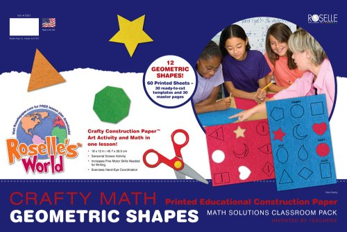 [Roselle Crafty Math Printed Educational Construction Paper,