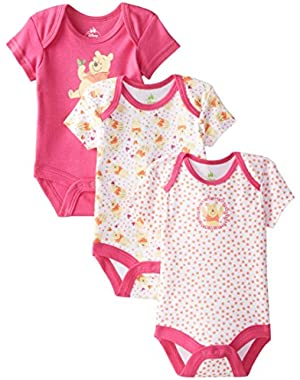 Baby Girls' Girls Pooh 3 Pack Bodysuit Set