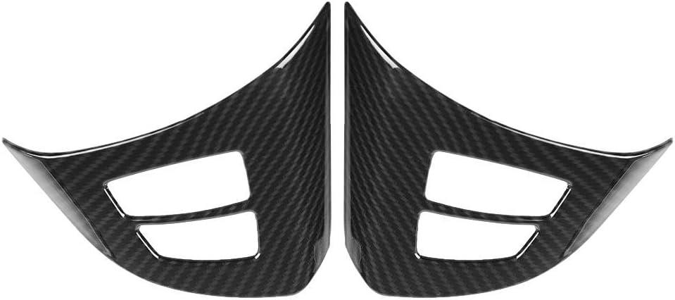 Steering Wheel Button Cover Trim 2pcs Carbon Fiber Steering Wheel Button Frame Decoration Cover Trim for X5 E70 2008-2013