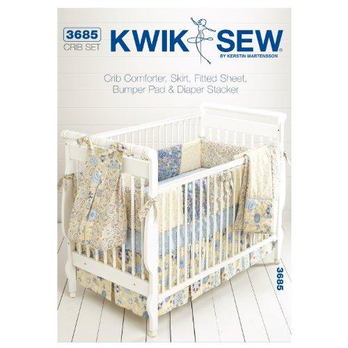 Kwik Sew K3685 Crib Comforter Sewing Pattern, Skirt by KWIK-SEW PATTERNS