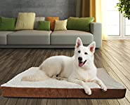 Paws & Pals Orthopedic Pet Bed Foam-Mattress for Dogs & Cats – Soft Quilted Cushion Mat - Rectangular Fits Crate, Carrier & Kennel - Various Sizes