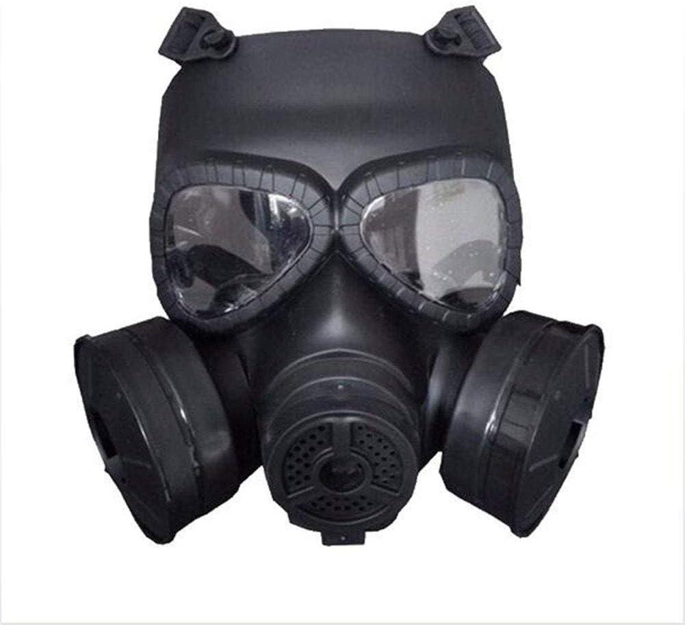 RJJBYY Máscara de respiración Completa anticontaminación Doble válvulas de Vapor dañinas Respirar fácil de Usar en el Gas orgánico, el pulverizador de Pintura, el químico