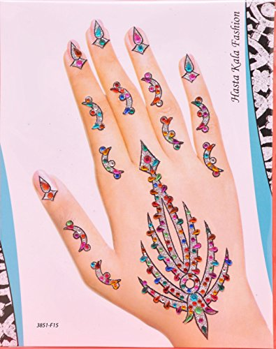 Silver Bridal Henna Mhendi Temporary Tattoos (Henna Tattoo Earth)