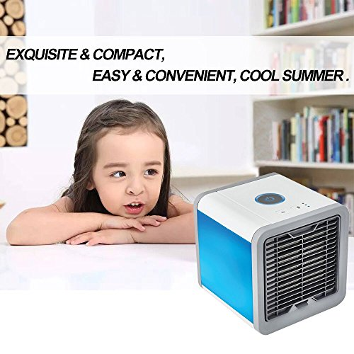 Air Conditioner Portable Air Conditioner Personal Space Air Cooler Mini Portable Space Air Conditioner, Portable Space Cooler for 45 Square Feet, Desk Table Fan for Office Home Outdoor by PLZ (Image #8)