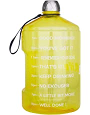 BuildLife 1 Gallon Water Bottle Motivational Fitness Workout with Time Marker |Drink More Water Daily | Clear BPA-Free | Large 128 Ounce/73OZ/43OZ of Water Throughout The Day
