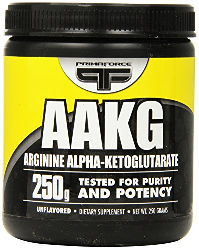 PrimaForce AAKG Powder Supplement – Aids Strength Performance / Boosts Nitric Oxide Production / Enhances Intense Workout Tolerance – 250 grams