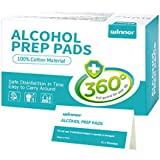 Winner Ultra Large Alcohol Wipes, 100% Soft Cotton Prep Pads Lock Abundant Liquid, 50 Count