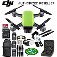 DJI Spark Portable Mini Drone Quadcopter (Meadow Green) EVERYTHING YOU NEED Ultimate Bundle