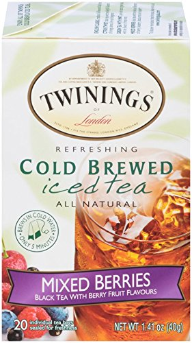 Twinings Cold Brew Tea, Mixed Berries, 20 Count Bagged Tea (Mixed Fruit Tea)