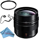 Panasonic Leica DG Summilux 12mm f/1.4 ASPH. Lens + 62mm UV Filter + Fibercloth + Lens Capkeeper Bundle