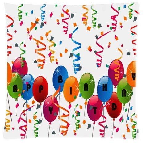 Amazon.com: Feliz Cumpleaños globos hermoso diseño funda de ...