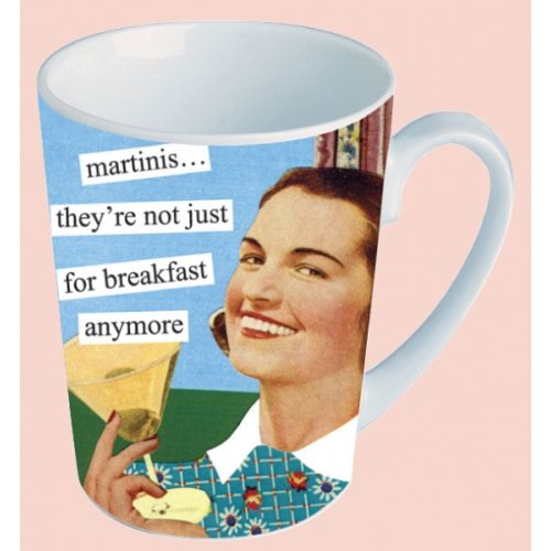 Anne Taintor Ceramic Mug Cup Funny Retro Gift - MARTINIS ...they're not just for breakfast anymore