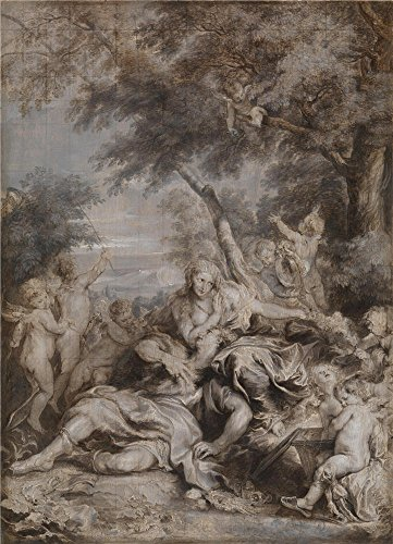 Oil Painting 'Anthony Van Dyck Rinaldo Conquered By Love For Armida ' Printing On Perfect Effect Canvas , 30 X 42 Inch / 76 X 106 Cm ,the Best Study Decor And Home Artwork And Gifts Is This Replica Art DecorativeCanvas Prints