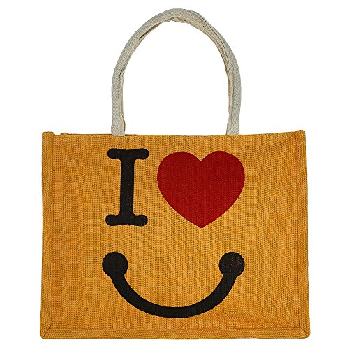 ShalinIndia - Jute Multipurpose Shopping Handbag With Zipper