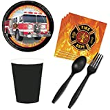 Fire Truck Party Supply Pack for 16 Guests