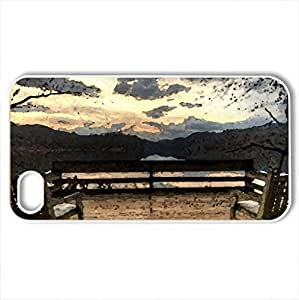 Autumn - Case Cover for iPhone 4 and 4s (Watercolor style, White)