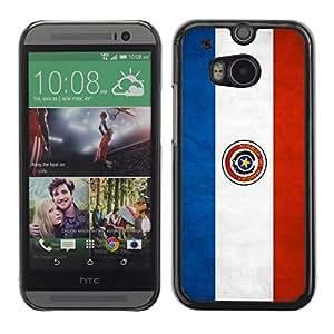 YOYO Slim PC / Aluminium Case Cover Armor Shell Portection //Paraguay Grunge Flag //HTC One M8