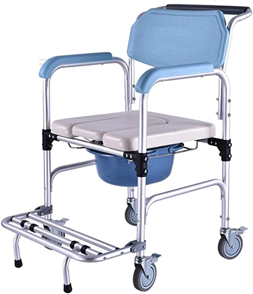 SJY Poulie Chaise de Toilette Vieux handicapé Cuvette ...
