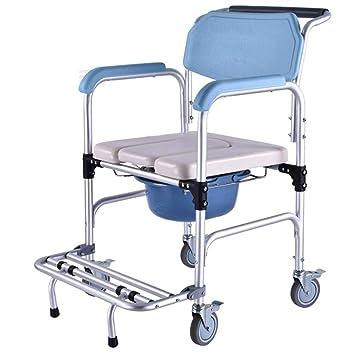 SJY Poulie Chaise De Toilette Vieux Handicapé Cuvette Fauteuil Roulant  Alliage Du0027aluminium Il Peut