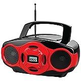 NAXA NPB-264 RE Portable CD/MP3 Mini Boom Boxes & USB Player (Red) electronic consumer