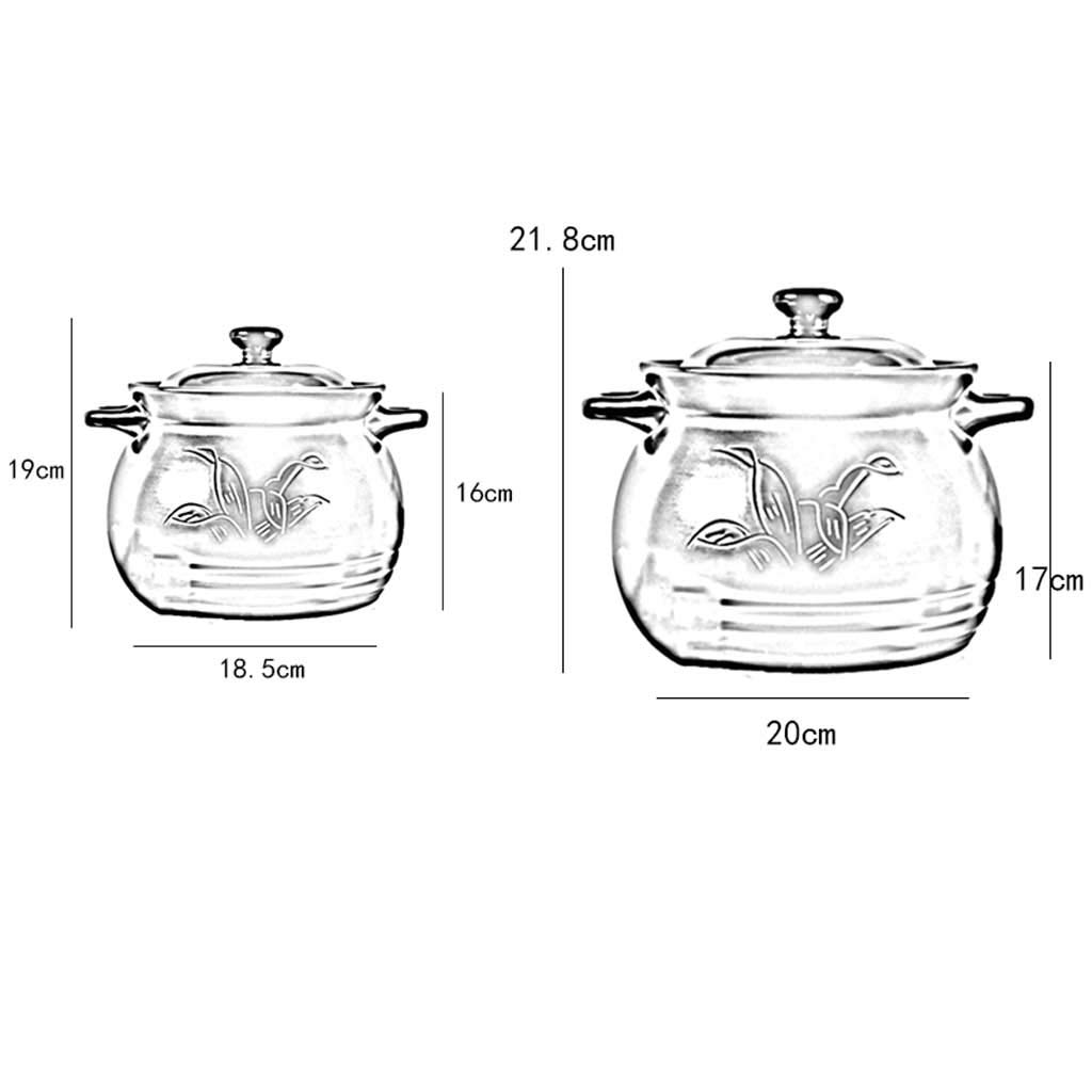 Unbekannt LINGZHIGAN Auflauf Herd Keramik Keramik Keramik Suppe Topf Steingut Haushalt Hohe Temperatur Offene Flamme Jinhua Lithium Porzellan Auflauf Brei (Kapazität   3.5L) B07JBNL86X Terrinen 6062ff