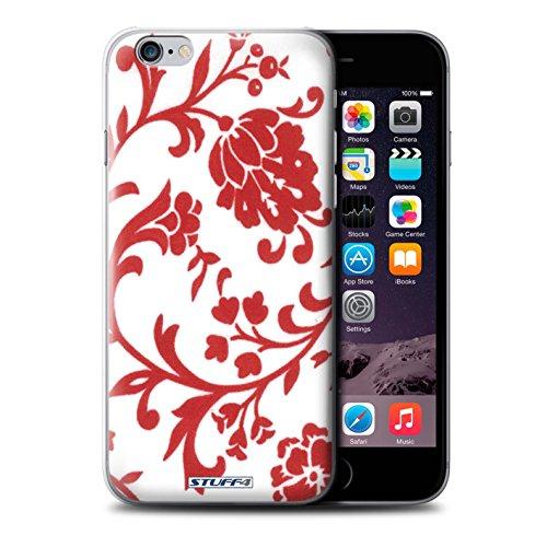 Coque de Stuff4 / Coque pour iPhone 6+/Plus 5.5 / Fleurs Rouge Design / Motif floral Collection / par Deb Strain / Penny Lane Publishing, Inc.